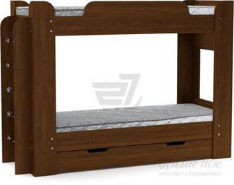 Скидка 20% ▷ Ліжко Компаніт Твікс 70х190 см горіх екко