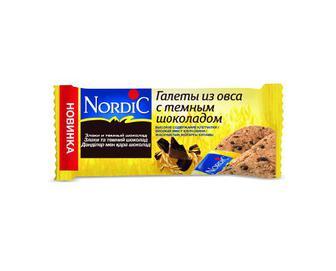 Галета Nordic з вівса з шоколадом, 30г