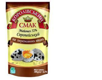 Майонез Європейський пер.яйц.72%, Королівський смак, д/п, 360 г
