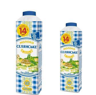 Молоко питне 2,5 % Селянське 950г