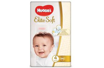 Підгузки Huggies Elite Soft Mega Pack 4 (8-14 кг) 66 шт./уп