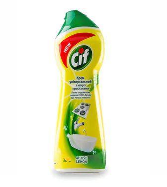 Крем для чищення Cif Active Lemon універсальний з мікрокристалами 250мл