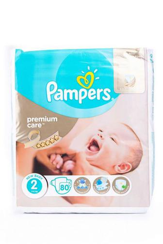 Подгузники PAMPERS Premium Care р2 3-6 кг 80 шт