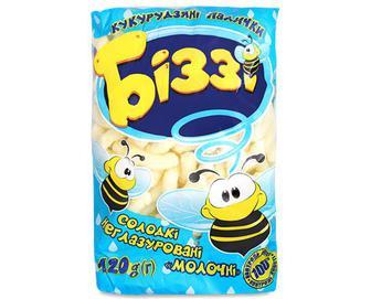 Палички кукурудзяні «Біззі» солодкі неглазуровані молочні,120г