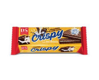 Вафлі «Домашнє свято» Crispy смак молока та шоколаду, 72г