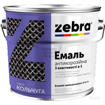 Емаль ZEBRA 3 в 1 серія Кольчуга 55 яскраво-жовтий 0.75кг