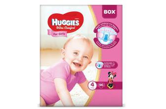 Підгузки Huggies Box Ultra Comfort для дівчаток 4 (7-16 кг) 96 шт./уп