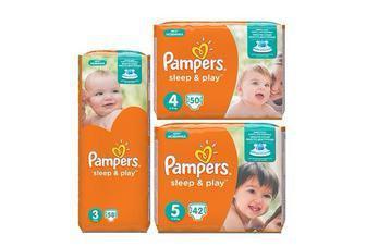 Підгузники Sleep&Play Розмір 3 - 58 шт. Розмір 4 - 50 шт. Розмір 5 - 42 шт. Pampers