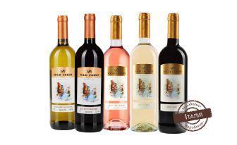 Вино біле, червоне, рожеве напівсолодке,червоне, біле сухе Соло Корсо 0,75 л