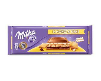 Шоколад молочний з наповнювачем крем-печива,  Milka, 300 г