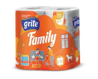 Папір туалетний Grite Family 3-шаровий 4 рулони/уп