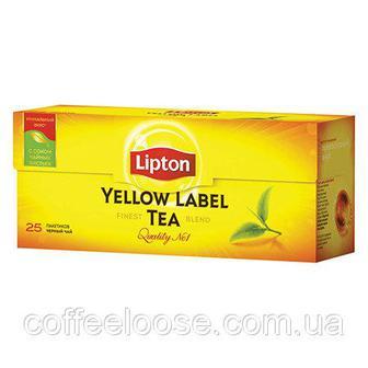 Чорний чай в пакетиках Yellow Label Lipton 25шт