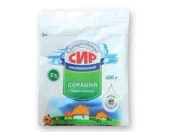 Сир кисломолочний 5% Білоцерківський 400 г