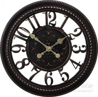 Годинник настінний Skeleton матеріал: пластик,колір: чорний 40,6х40,6х4,5 см