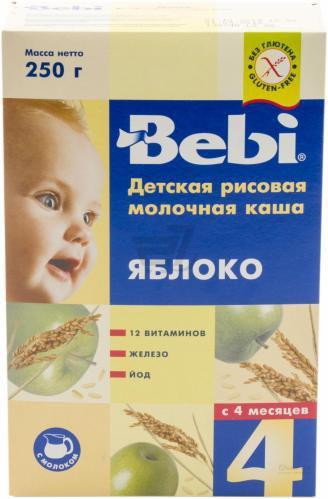 Каша молочна Bebi рисова з яблуками 250 г