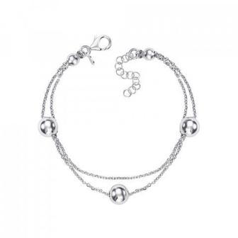 Срібний браслет без вставки. Артикул BFAXD000129-B/12