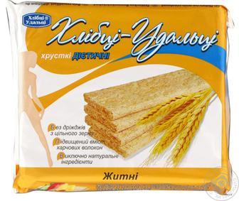 Хлібці Хлібці-Удальці житні хрусткі дієтичні 100г