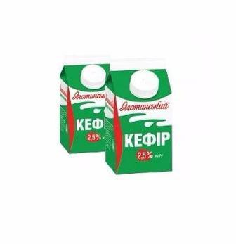 Кефір 2,5% 450 гр Яготинське