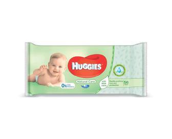 Серветки вологі Huggies Natural Care, 56 шт./уп