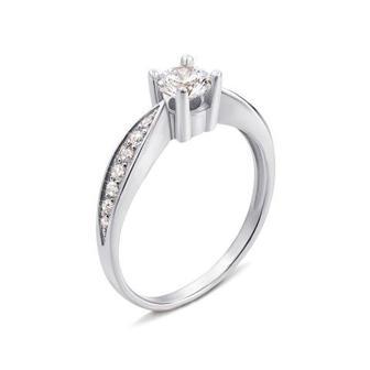 Золотое кольцо с фианитами Swarovski Zirconia. Артикул 12109/02/1/23 (12109/б SW)