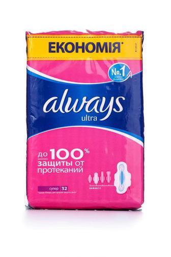 Прокладки для критических дней Always ultra super plus, 30шт