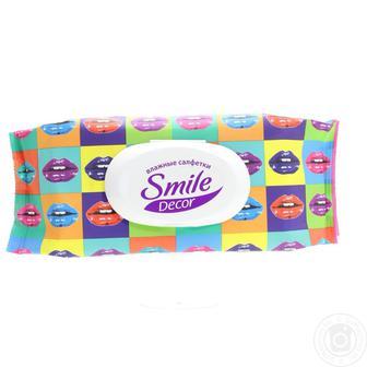 Серветки вологі  Decor Smile 60шт