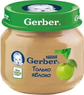 Пюре Gerber яблоко (с 4 месяцев) 80 г