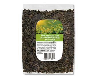 Чай зелений китайський байховий листовий, 80г