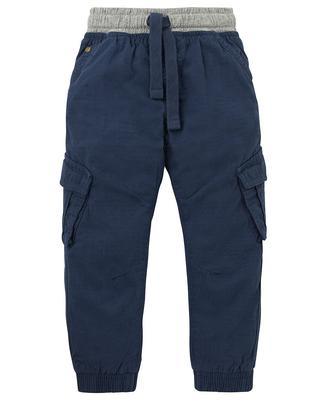 Штанці із тканини ріпстоп темно-синього кольору від Mothercare