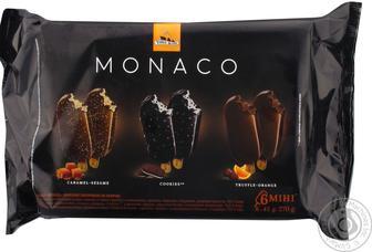 Набор Три Медведя Monaco мороженое глазированное на палочке 6шт по 45г