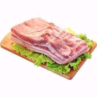Грудинка свиняча з кісткою зі шкурою охолоджена 1 кг