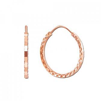Золотые серьги-конго с алмазной гранью. Артикул 20860
