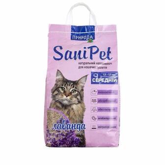 Наповнювач для туалету Sani Pet бентонітовий, 2,5 кг, з лавандою Природа