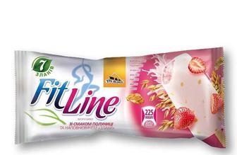 Морозиво Йогурт-полуниця, глазуроване FitLine - 80 г