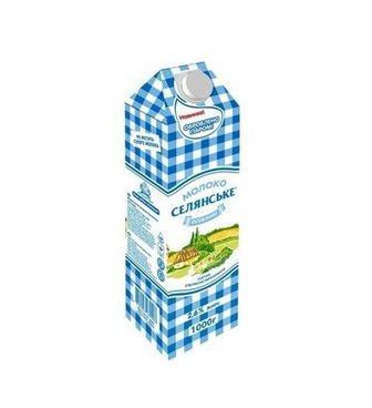 Молоко 2,5% Особливе Селянське 950 г