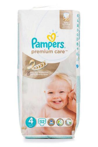 Подгузники PAMPERS Premium Care р4 7-14кг 52шт