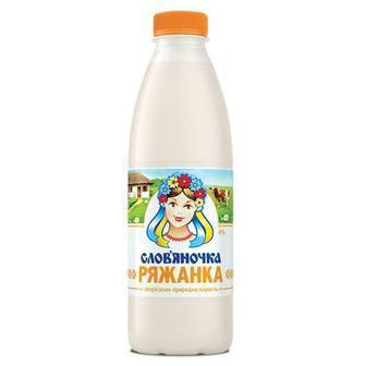 Ряжанка 4% пляшка Слов'яночка 870мл