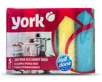 Губки кухонні York MAXI, 5 шт./уп