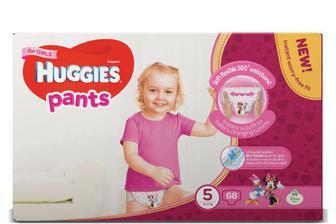Підгузки-трусики Huggies для дівчаток 5 (12-17 кг) 68 шт./уп