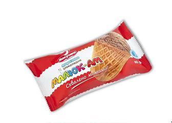 Морозиво Ласунка Малюк-Ам/шоколадне 80г