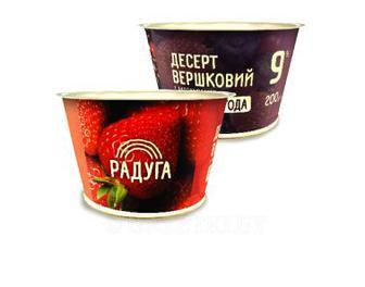 Десерт вершковий фруктовий 9% Радуга Хуторок 200г