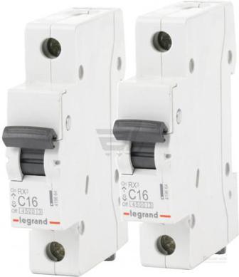 Комплект автоматичних вимикачів Legrand ТХ3 6кА 16А 1Р C 2 шт.