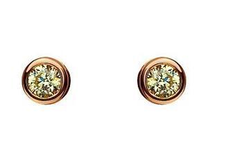 Золотые серьги с фианитами 15-000090710