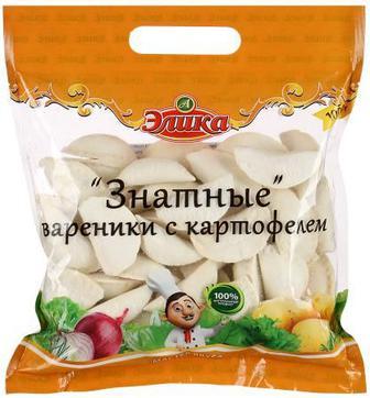 Вареники с картофелем Знатные Элика 1 кг