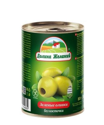 Маслины, оливки Долина желаний б/к, 280 г