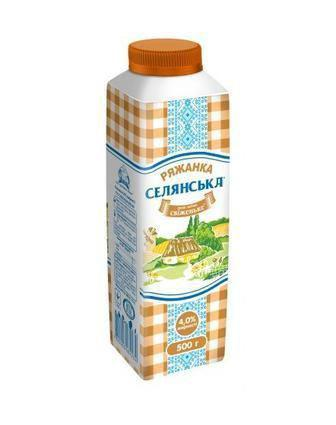 Ряжанка 4% Селянське 450 г