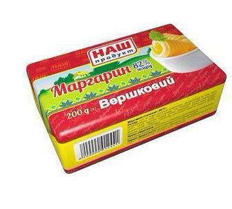 Маргарин Вершковий 82% Наш Продукт 200г