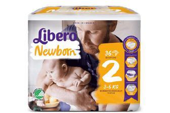 Підгузки Libero Newborn 2 (3-6 кг) 36 шт./уп