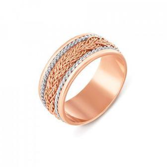 Обручальное кольцо комбинированное. Артикул 1048