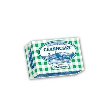 Масло солодковершкове 63% Селянське 200г
